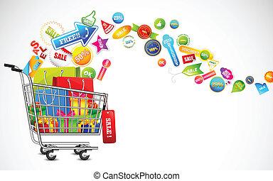 producto, lleno, compras, venta, carrito