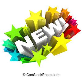 producto, palabra, anunciar, marca, mejora, estrellas, nuevo, o