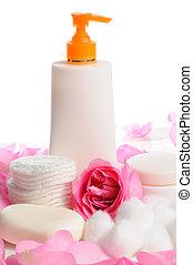 Productos de cuidado de piel aislados