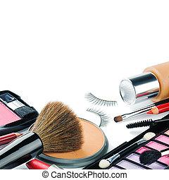 Productos de maquillaje coloridos