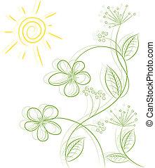 Profesional floral abstracto del vector