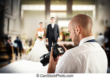profesional, fotógrafo, boda