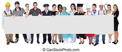 profesionales, diverso, grupo