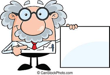profesor, blanco, actuación, señal