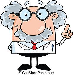 profesor, científico, idea, o
