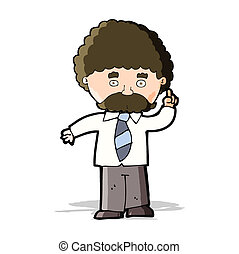 Profesor de dibujos animados