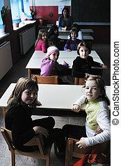 Profesor feliz en clase