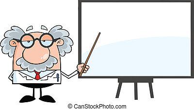 profesor, presentación, tabla