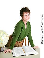 Profesora bonita o bibliotecaria