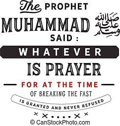 profeta, dicho, muhammad