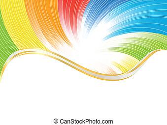 Profundidad abstracta del vector en color brillante