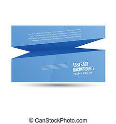 Profundidad abstracta del vector. Espacio azul para el texto