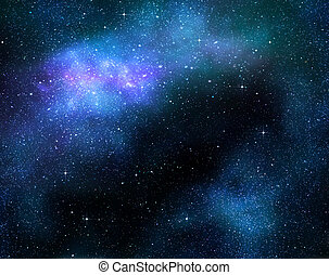 profundo, galaxia, espacio, exterior, estrellado, nebulosa