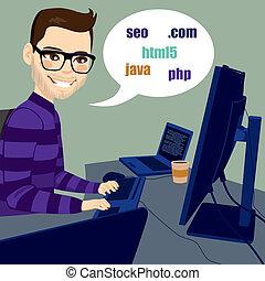 Programador trabajando