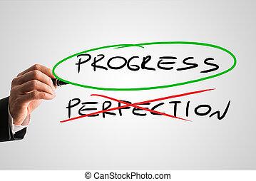 progreso, concepto, -, perfección