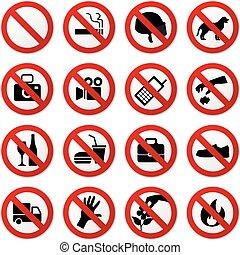 Prohibido ninguna señal de pare