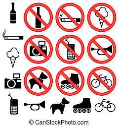 prohibitorio, signs.