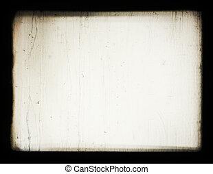 projector., viejo, proyección, optics., esto, pantalla, photos., se poner borroso, efecto, películas, tiros, convenido, o, lograr