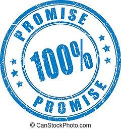 Promesa sello de goma
