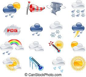 pronóstico meteorológico, iconos
