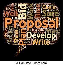 propsal, victoria, texto, plano de fondo, usted, su, plan, concepto, wordcloud