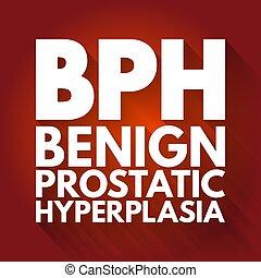 prostatic, plano de fondo, siglas, bph, -, concepto, hyperplasia, médico, benigno