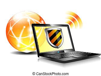 protección, antiviru, protector, internet