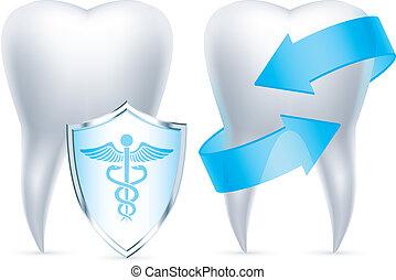 Protección de dientes.