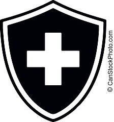 protección, salud, iconos, protector