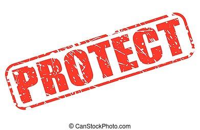 Protege el texto del sello rojo