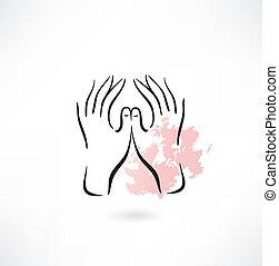 Protegiendo el ícono de las manos