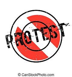 Protesta sello de goma