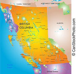 provincia, mapa, colombia, británico