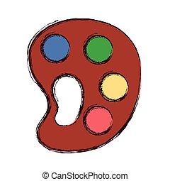 Provisión artística de color paleta