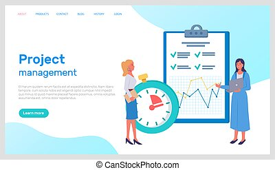 proyecto, tela, planificación, bandera, concept., equipo, dirección, empresa / negocio, móvil, infographics, personas oficina