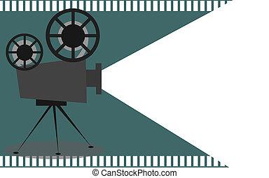 Proyector de cine retro con lugar de texto