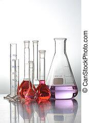 prueba, ciencia, médico, tubos