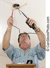 prueba, electricista, voltaje
