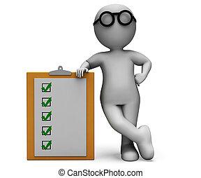 prueba, lista de verificación, cuestionario, portapapeles, exposiciones