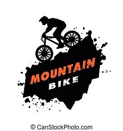 Pruebas de bicicletas de montaña emblema.