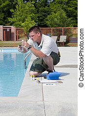 Pruebas químicas de piscina activas