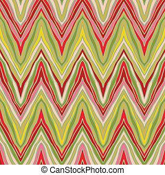 psicodélico, patrón, lineal, zigzag