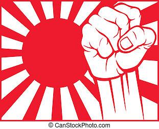 Puño japonés (flag de Japón)