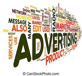 Publicidad de palabra en nube de etiqueta