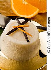Pudín de naranja de vainilla