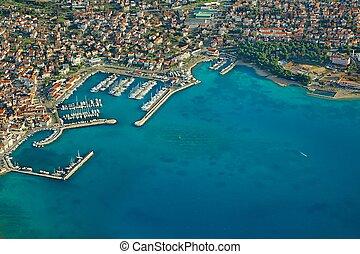 pueblo, costero, croata