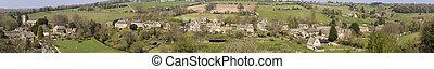 Pueblo Cotswold de Naunton, Gloucestershire,uk