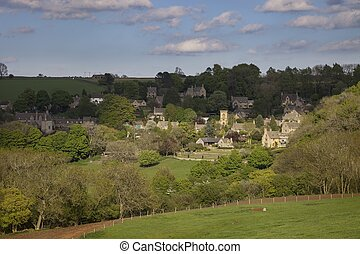 Pueblo Cotswold de Snowshill, Gloucestershire, Inglaterra