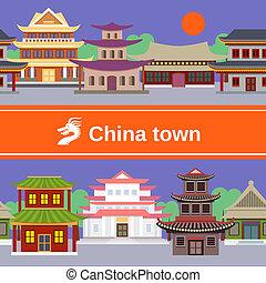 pueblo, frontera, tileable, china