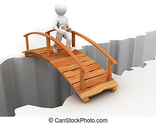 puente, a través de, cañón